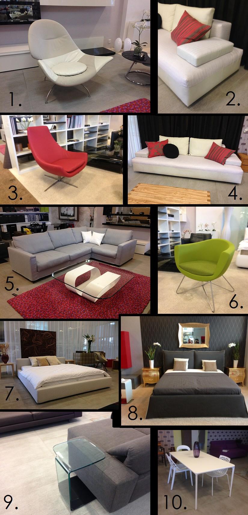 Novinky designový nábytek 2014