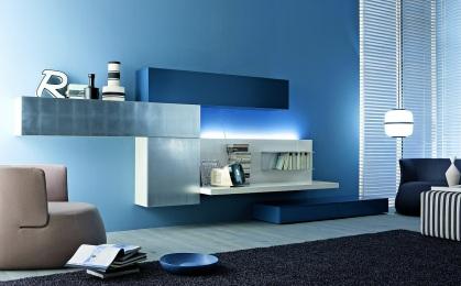 Moderní obývací stěny bez TV panelu