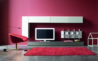 Moderní obývací stěny s TV