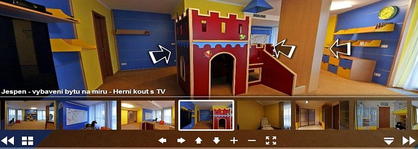 Virtuální prohlídky dětského pokoje ZALF
